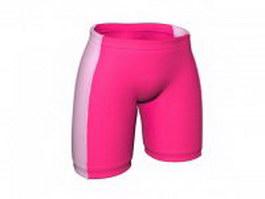 Sports boy shorts for women 3d model