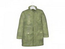 Camouflage coat on hanger 3d model