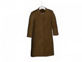 Men's coat on hanger 3d model