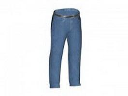 Blue Jeans Trousers 3d model