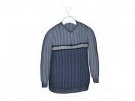 Men's v-neck sweaters 3d model