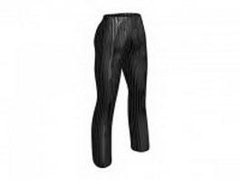 Slim fit pants for women 3d model