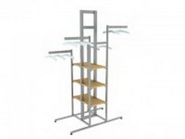 Steel garment rack 3d model