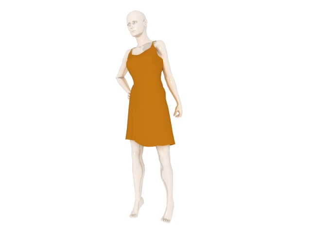 female mannequin with clothes 3d model 3ds max files free