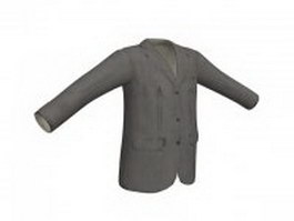 Grey suit jacket for men 3d model