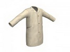 Autumn overcoat 3d model