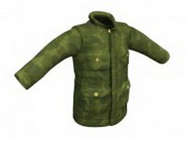 Camouflage coat for men 3d model
