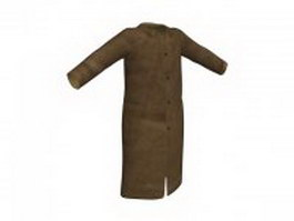 Brown overcoat for men 3d model