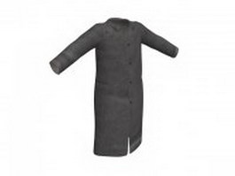 Wool overcoat for men 3d model