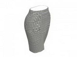 Business pencil skirt 3d model