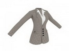 Work jacket for women 3d model