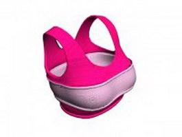 Pink sports bra 3d model