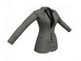 Women's business jacket 3d model