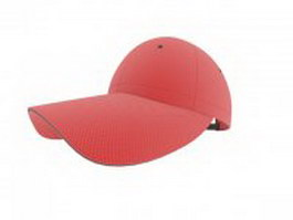 Adjustable baseball cap 3d model
