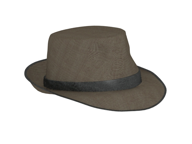 3D model of fedora hat for men. Available 3D file formats  .max (3ds max)  V-ray render. Texture type  jpg. Free download this 3d-object and put it  into your ... 6ba936bbe5a9