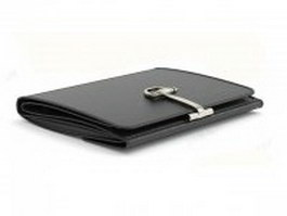 Black bifold wallet 3d model