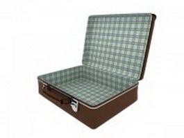 Open suitcase 3d model