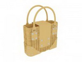 Basket weave handbag 3d model