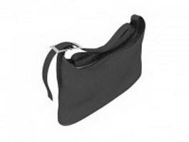 Black satchel handbag 3d model