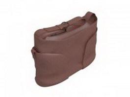 Casual women's handbag 3d model