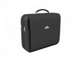 Laptop briefcase in black 3d model