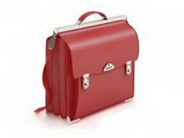 Professional briefcase for women 3d model