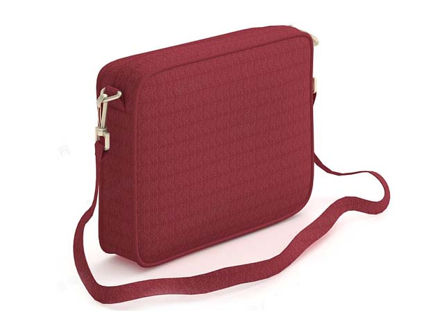 Red pouch bag for women 3d model 3ds max files free download ...