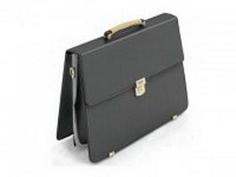 Leather satchel briefcase 3d model