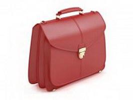Women's business handbag 3d model
