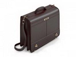 Vintage briefcase for men 3d model