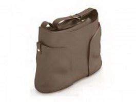 Casual handbag for women 3d model