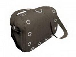Canvas shoulder bag for women 3d model