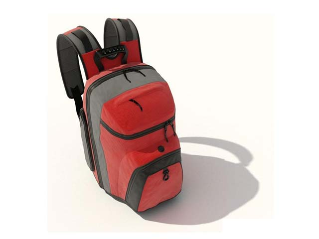 College school bag 3d model 3ds max,DXF,FBX,Object files free