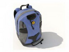 High school backpacks 3d model