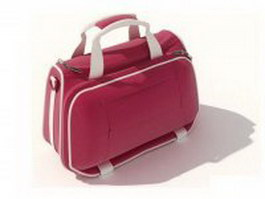 Red mini sports bag 3d model