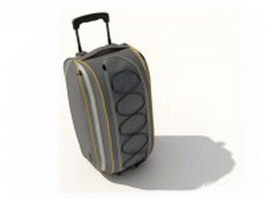 Travel bag with trolley 3d model