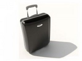 Black rolling luggage 3d model