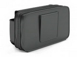 Black fanny pack 3d model