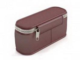 Brown waist bag for men 3d model
