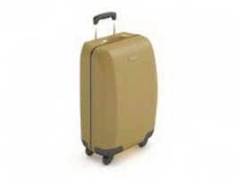 Trolley luggage suitcase 3d model