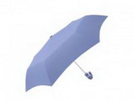 Royal blue umbrella 3d model