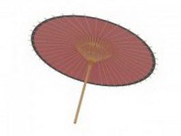 Japanese parasol 3d model