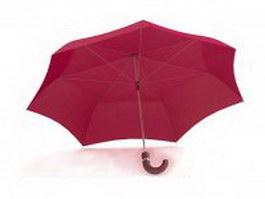 Pink umbrella 3d model