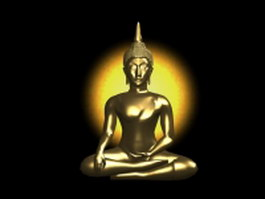 Indian Buddha statue 3d model