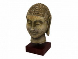 Buddha head statue 3d model
