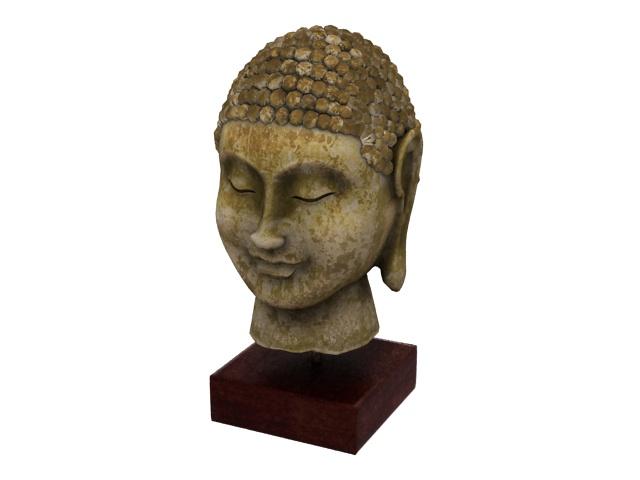 Buddha head statue 3d model