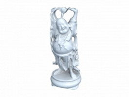 Ceramic buddha statue 3d model