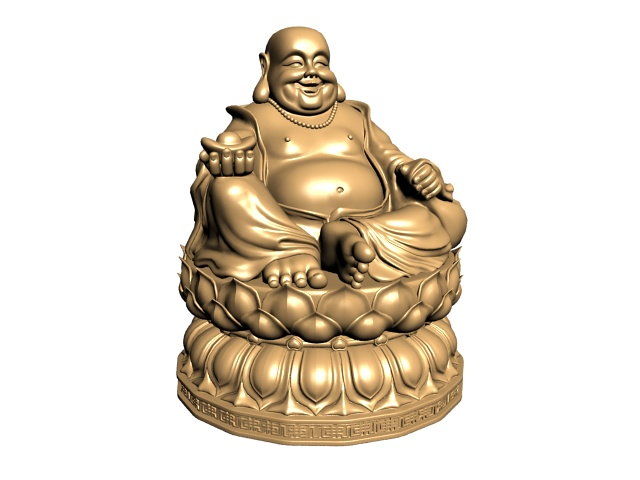 Happy Buddha Statue 3d Model 3ds Max Files Free Download