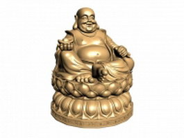 Happy Buddha statue 3d model
