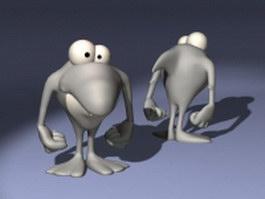Cartoon shark character 3d model